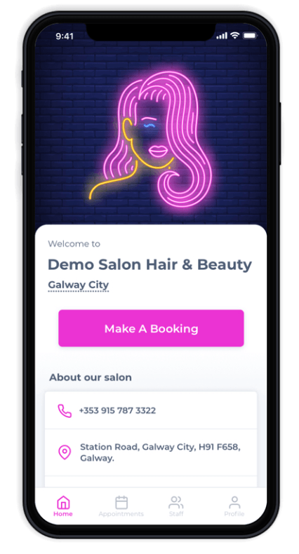 Salon Branded Apps - Prototype IE