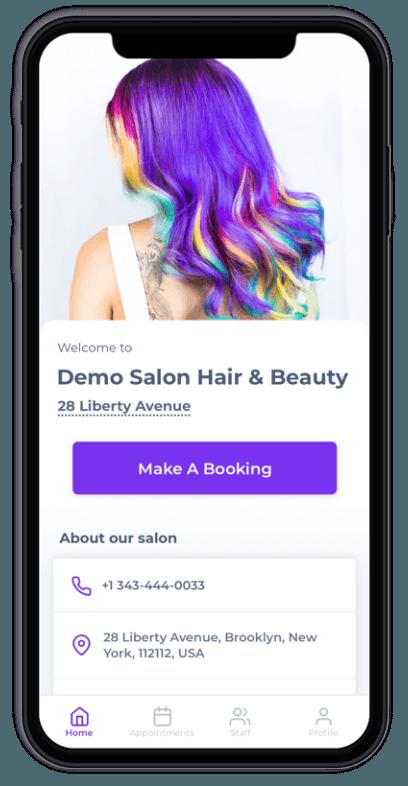 Salon Branded Apps - Prototype USA