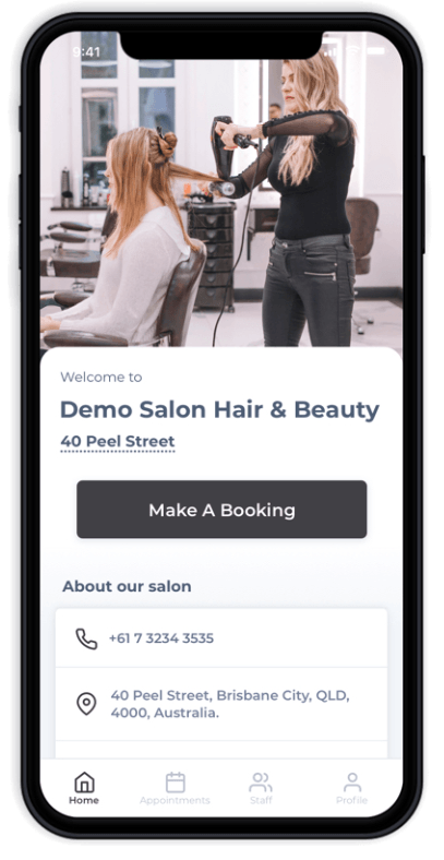 Salon Branded Apps - Prototype AUS