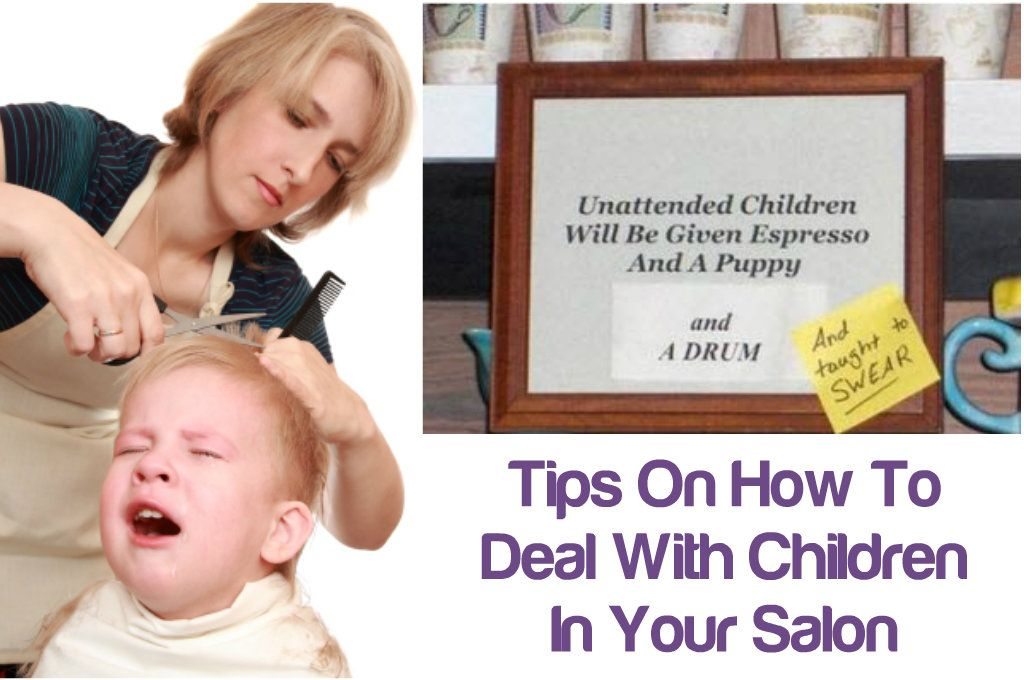 Kiddie Invasion: Tips On How To Deal With Children In Your Salon