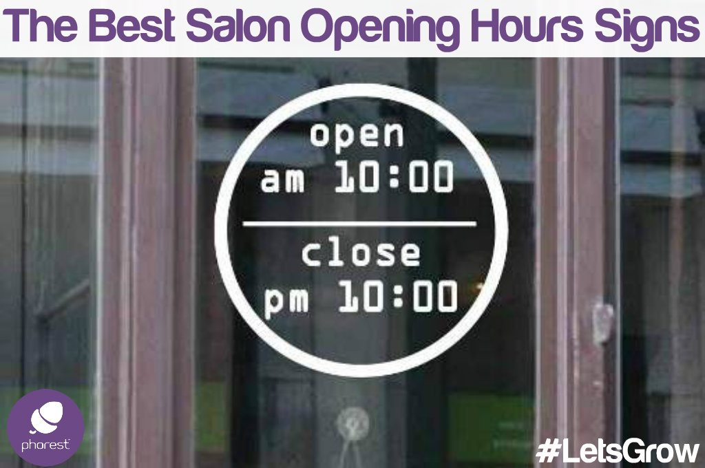 The Most Unique Salon Opening Hours Signs Around