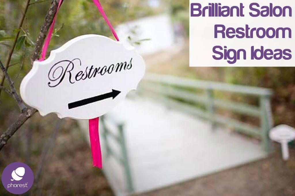 Salon Design: 12 Fantastic Restroom Sign Ideas