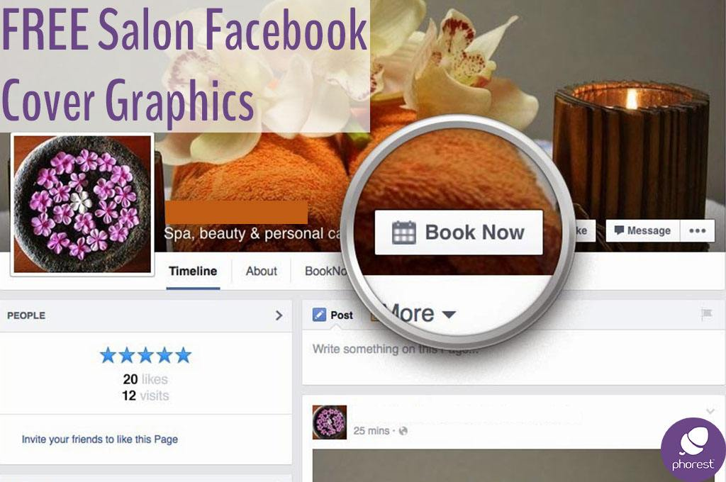 FREE Salon Facebook Cover Graphics To Promote Your Online Bookings