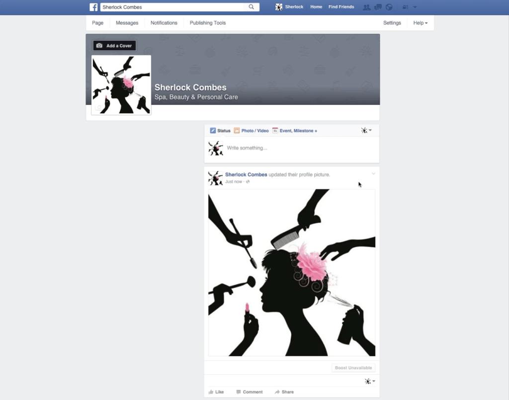 Facebook-salon-page