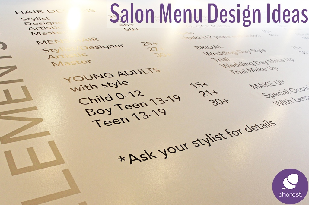 You're Going To Love These Salon Menu Design Ideas