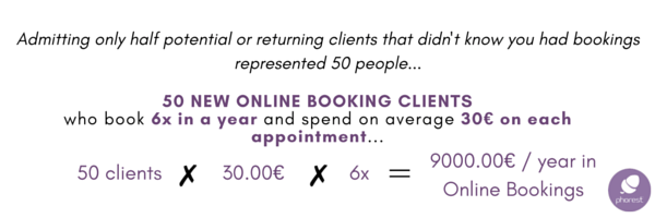 salon online bookings