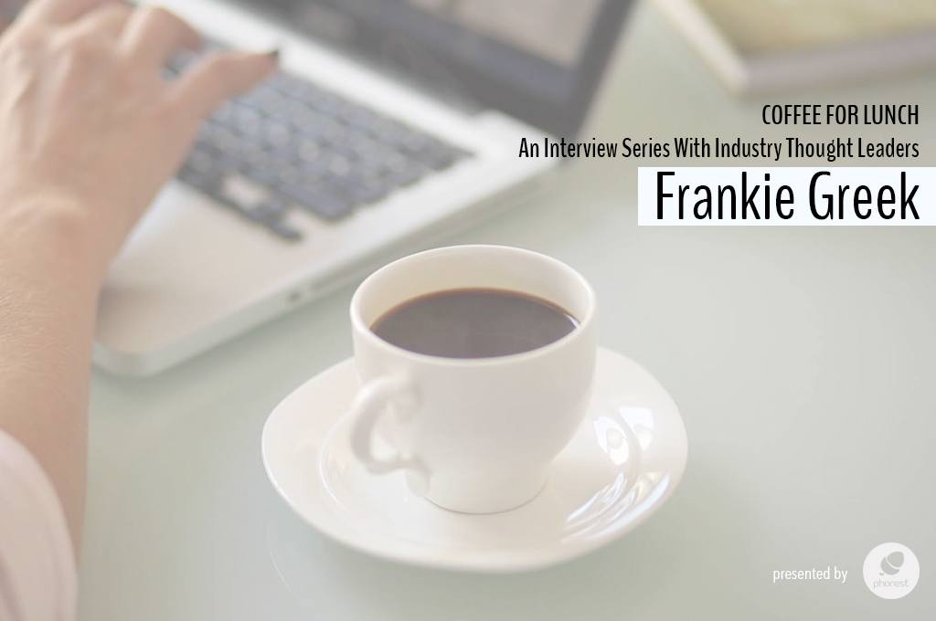 Coffee For Lunch   Interview With Social Media Specialist Frankie Greek