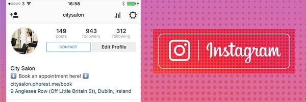 Salon-Profil auf Instagram