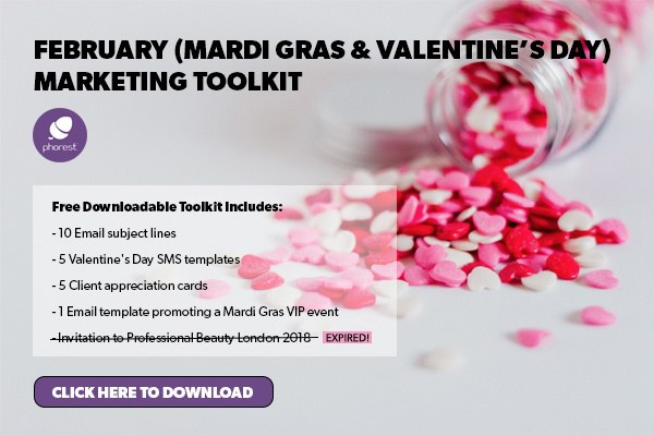 Valentine's day salon marketing