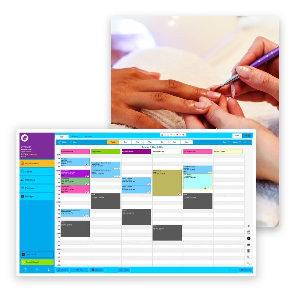 Unsere Phorest Software für Kosmetikstudios mit integriertem Terminplaner hilft dir den Tag im Blick zu halten.