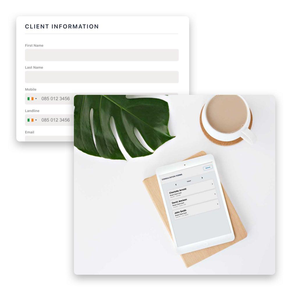 Die digitale Kundenkartei lässt dich nie im Stich und zeigt dir jederzeit über die Phorest GO App alle Informationen.