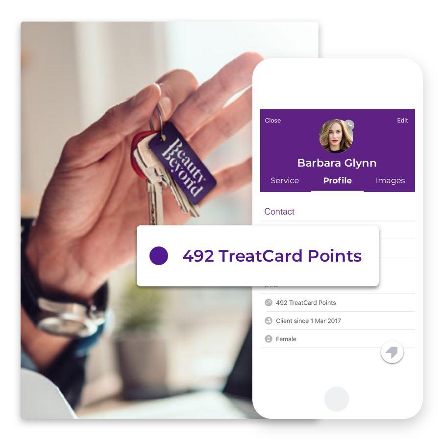 Die TreatCard von Phorest hilft dir bei der Kundenbindung und lässt dich individuelle Belohnungen für gesammelte Punkte ausstellen.