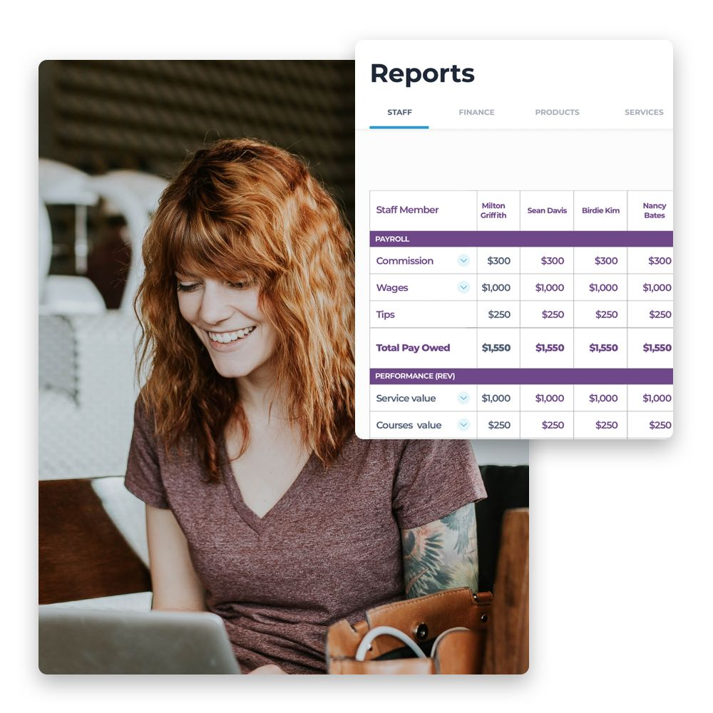 Berichte für deinen Salon kannst du einfach mit Phorest erstellen.