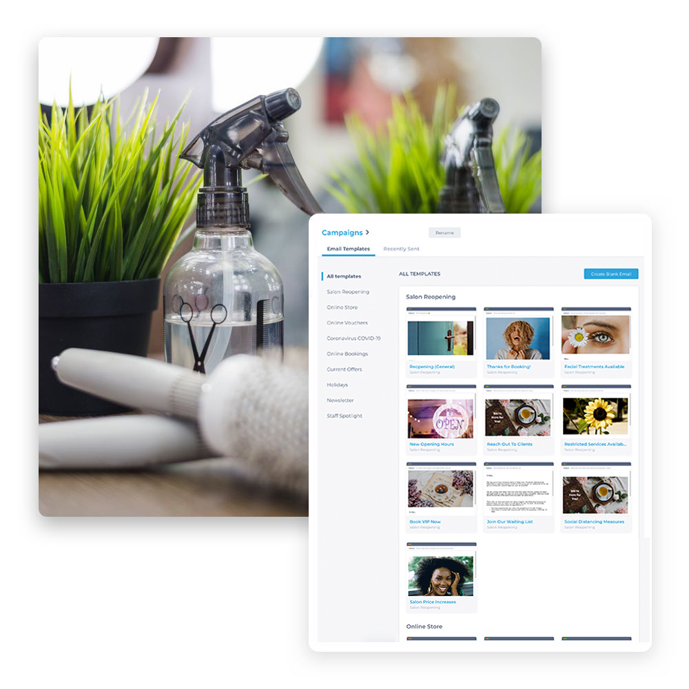 Email editor templates