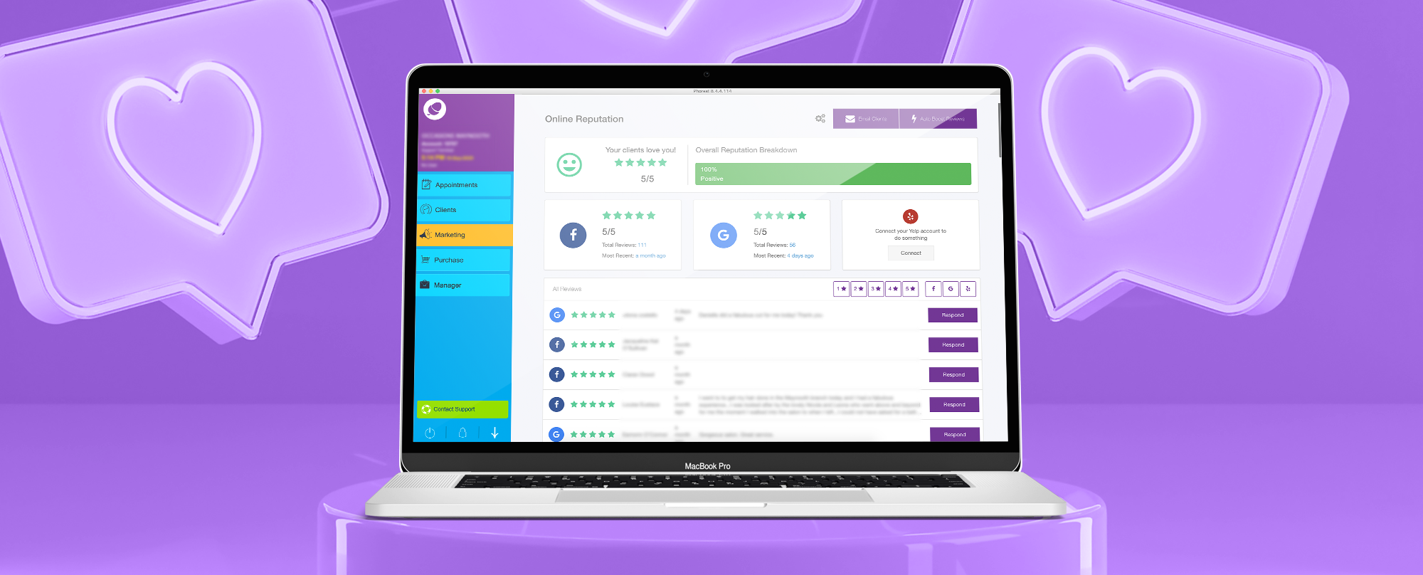 Earn Award-Worthy Reviews with Phorest's Online Reputation Manager