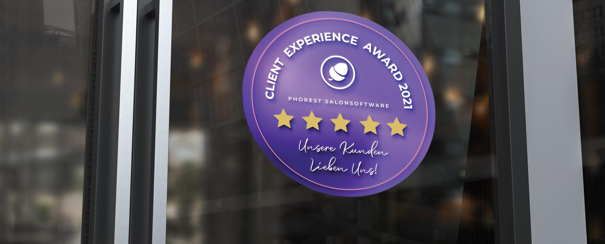 Feiere deinen Erfolg: Der Client Experience Award 2021 ist da